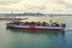 Melbourne's biggest container ship