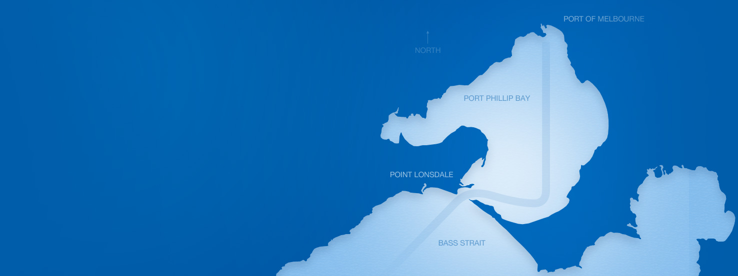 Map of Port Phillip Bay & Bass Strait